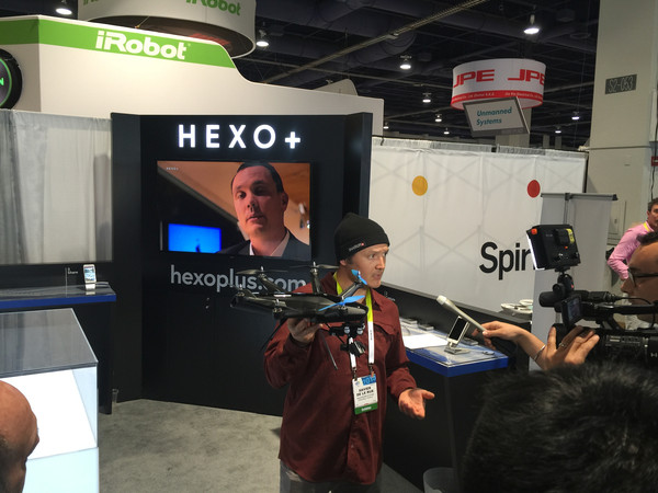 Xavier giving an interview to media at the CES